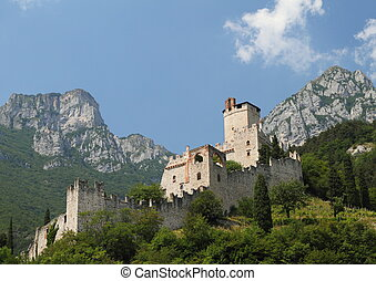 Castle in mountains - The Castle of Sabbionara (called...