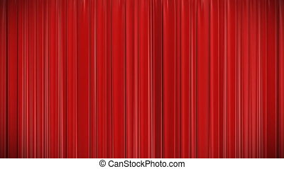 Red curtain Opening and closing 3d - Highly detailed 3d...