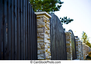 decorative fence with columns