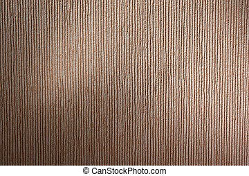 Striped paper wallpaper with two snoot lights