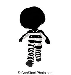 Little Criminal Girl Illustration