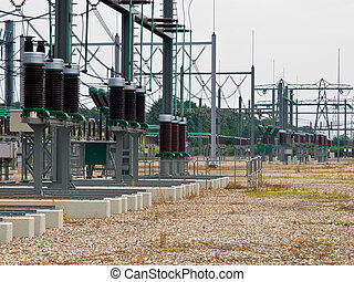 high power transformation system site with white background