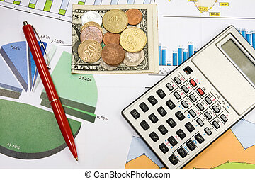 Financial planning - Financial planning using color charts...