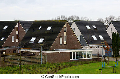 Dutch neighbourhood - Houses in a dutch neighboorhood