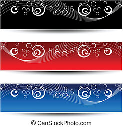 Vector set of ornament banners