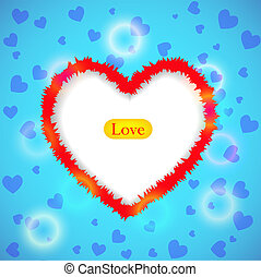 Creative background for valentine's day. Vector illustration