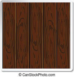Vector wood board for advertising text