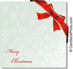Vector Christmas ornament label with ribbon
