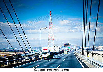 highroad - the highroad of a city in japan.