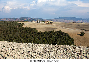Toscana,  Val,  Di,  vitaleta,  d'orcia,  cappella