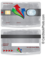 Bank Card - Bank card layout with abstract secure sign