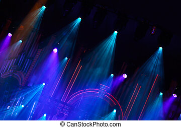 stage lights in philharmony - stage strobe and neon lights...