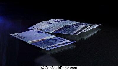 Taking money, euros