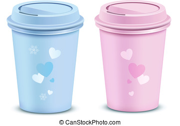 Valentine's coffee cups