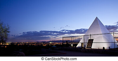 Hunt's Tomb Pyramid in Tempe Arizon - Tomb of Governor Hunt...