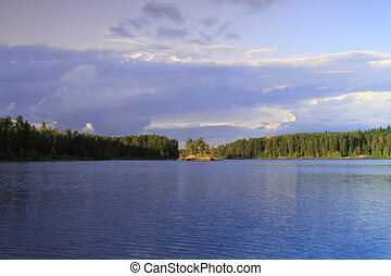 Serene lake - Beautiful serenity of a lake in Minnesota, USA