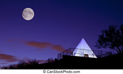 Hunts Tomb Pyramid Tempe Arizona - Tomb of Governor Hunt...