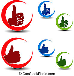 Vector best choice icons - gesture hand
