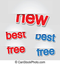 Vector fixed labels - new, best, free
