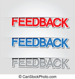 Vector fixed feedback stickers
