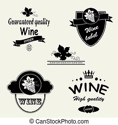 Vector wine labels