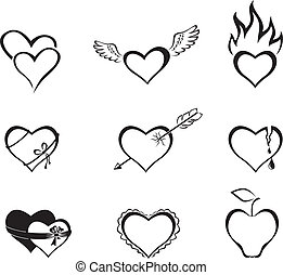 The hearts of the icons