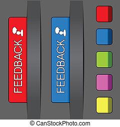 Vector feedback labels