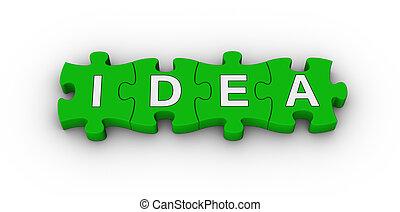 idea word on jigsaw puzzle