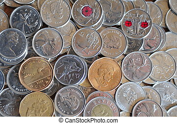 Quarter, Toonie, Loonie Background