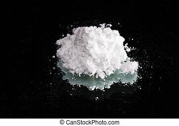 cocaína, drogas, Montão, pretas, espelho, fim,...