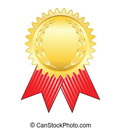 Gold award ribbon