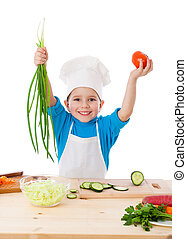 Little cooker with vegetables