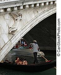 Venice - Rialto brigde and gondola