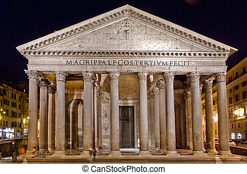 The Pantheon, a building which was commissioned by Marcus...