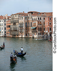 Venice - Exquisite antique buildings along Canal Grande