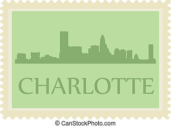 Charlotte stamp - City of Charlotte high rise buildings...