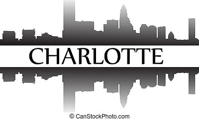 Charlotte - City of Charlotte high rise buildings skyline