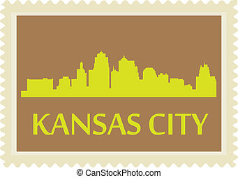 Kansas City stamp - City of Kansas City high rise buildings...