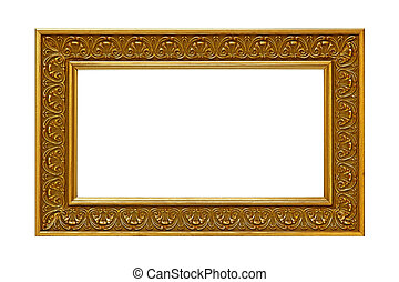 Gold Photo Frame - Gold plated wooden photo frame. Sized for...