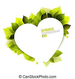 Vector Spring abstract floral background (Valentines card)