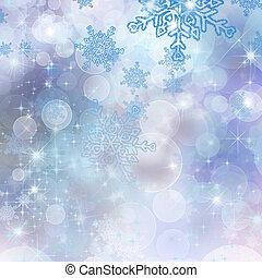 christmas background with beautiful snowflakes