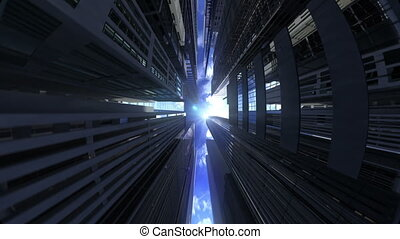 Modern architecture fisheye view - Modern architecture...