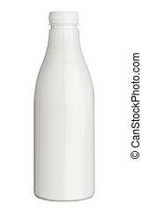 white plastic bottle milk yoghurt drink