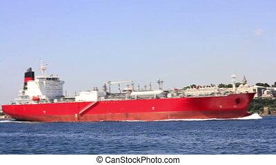 Oil tanker sailing
