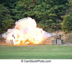 Civil War Re-enactment - explosion