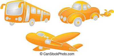 transportations - three transportations.