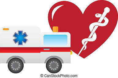ambulance and heart