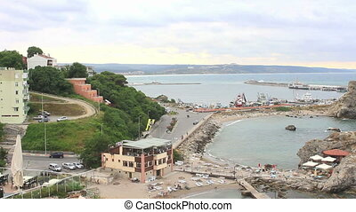 Istanbul, Sile - Sile Harbor from the hill; Istanbul, Turkey...