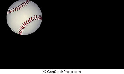 baseball in animation on black background