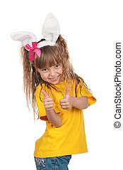 Little girl with bunny ears_453947jpg - Easter concept image...